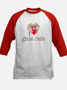 I heart ghost crabs Kids Baseball Jersey