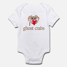 I heart ghost crabs Infant Bodysuit