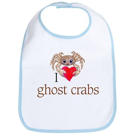 I heart ghost crabs Bib