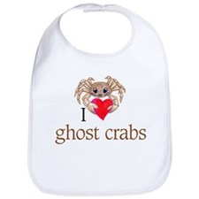 I heart ghost crabs Bib