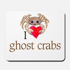 I heart ghost crabs Mousepad