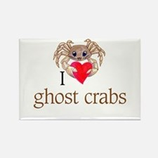 I heart ghost crabs Rectangle Magnet