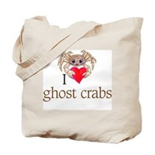 I heart ghost crabs Tote Bag