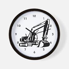 Heavy Equipment Backhoe Operator Wall Clock