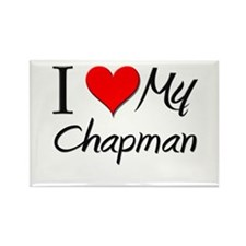 I Heart My Chapman Rectangle Magnet