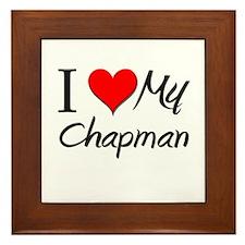 I Heart My Chapman Framed Tile