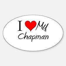 I Heart My Chapman Oval Decal