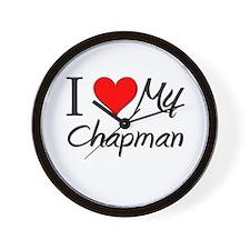I Heart My Chapman Wall Clock
