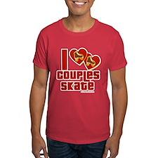 Dark I love couples skate T-Shirt