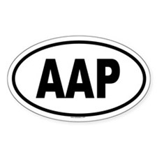 AAP Oval Decal