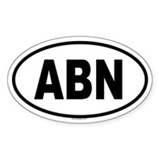 ABN Oval Decal