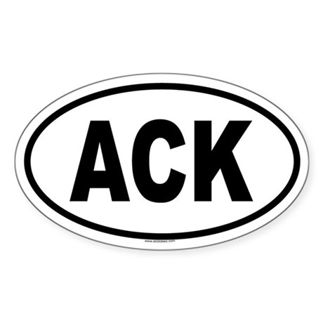 ACK Oval Sticker