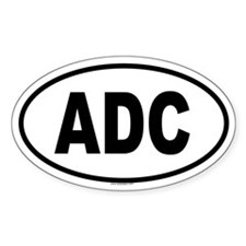 ADC Oval Decal