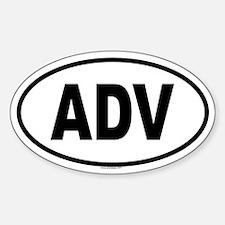 ADV Oval Bumper Stickers