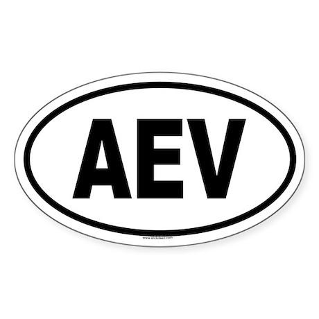 AEV Oval Sticker