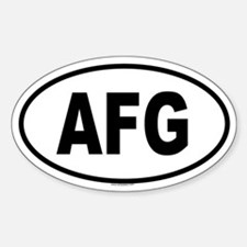 AFG Oval Bumper Stickers