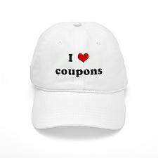 I Love coupons Baseball Cap