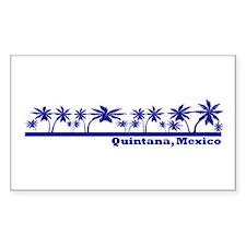 Quintana Roo, Mexico Rectangle Decal