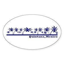 Quintana Roo, Mexico Oval Decal