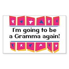 I'm Going to be a Gramma Again! Sticker (Rectangul