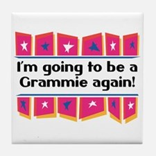 I'm Going to be a Grammie Again! Tile Coaster