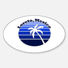 Loreto, Mexico Oval Decal