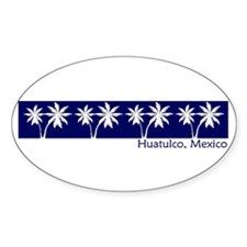Huatulco, Mexico Oval Decal