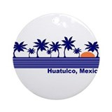 Huatulco mexico Round Ornaments