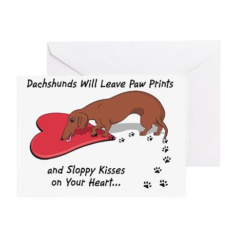 Sloppy Kisses Weiner Dog Greeting Card