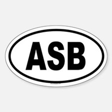 ASB Oval Decal