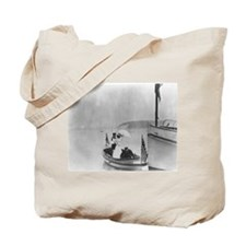 Lady in a Dinghy Tote Bag