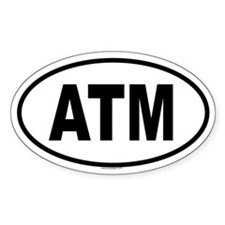 ATM Oval Decal