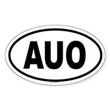 AUO Oval Decal