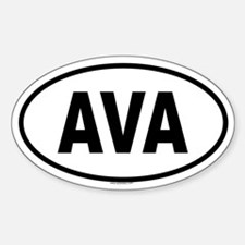 AVA Oval Decal