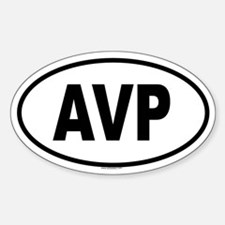 AVP Oval Decal