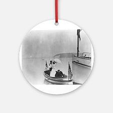 Lady in a Dinghy Keepsake (Round)