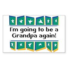 I'm Going to be a Grandpa Again! Sticker (Rectangu