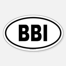 BBI Oval Bumper Stickers