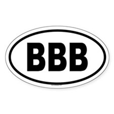 BBB Oval Decal