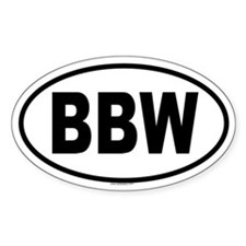 BBW Oval Decal