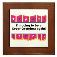 Going to be a Great Grandma Again! Framed Tile