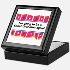 Going to be a Great Grandma Again! Keepsake Box