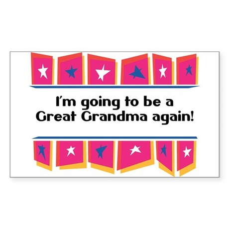 Going to be a Great Grandma Again! Sticker (Rectan