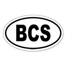 BCS Oval Decal