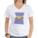 Planet Face Women's V-Neck T-Shirt