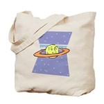 Planet Face Tote Bag