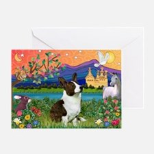 Fantasy Land / Corgi (c) Greeting Card