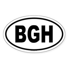 BGH Oval Decal