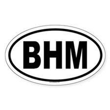BHM Oval Decal