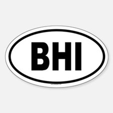 BHI Oval Bumper Stickers